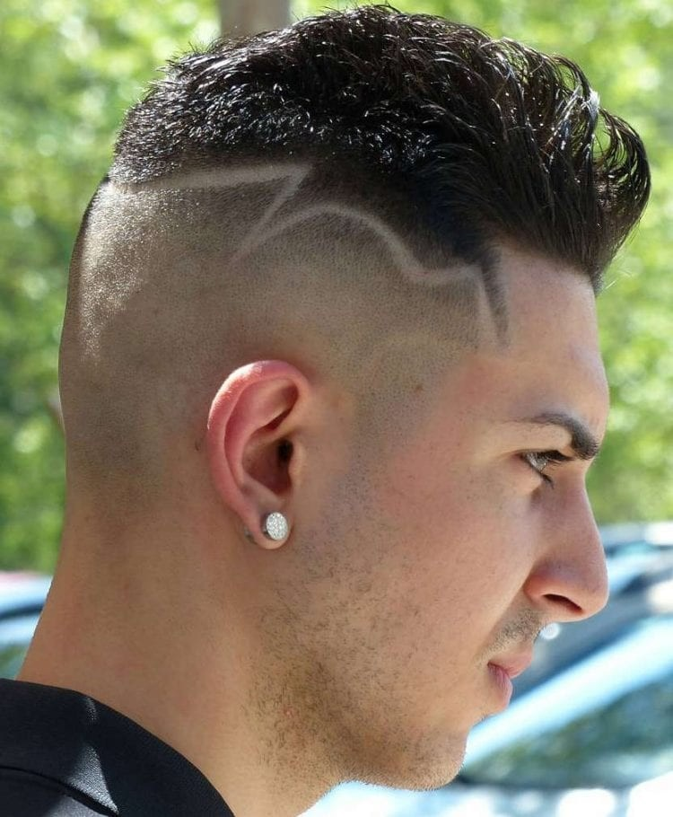 Fohawk-with-Disconnected-Skin-Close-Sides Unique Haircut Designs for Men