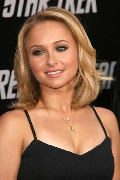 For-Round-Faces Hayden Panettiere Bob Style