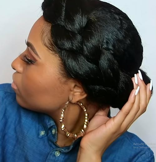Goddess-Crown-Braid Beautiful Crown Braid Hairstyles