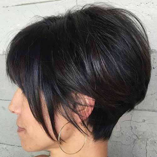 Graduated-Short-Haircut Must-See Straight Hairstyles for Short Hair