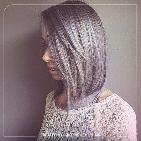 Grey-Bob-Hair New Bob Hairstyles 2019