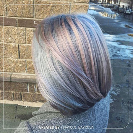 Grey-Hair New Bob Hairstyles 2019
