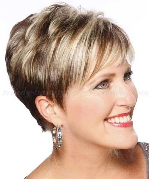Highlighted-Short-Hair-Cut-Over-50 Short Haircuts For Over 50