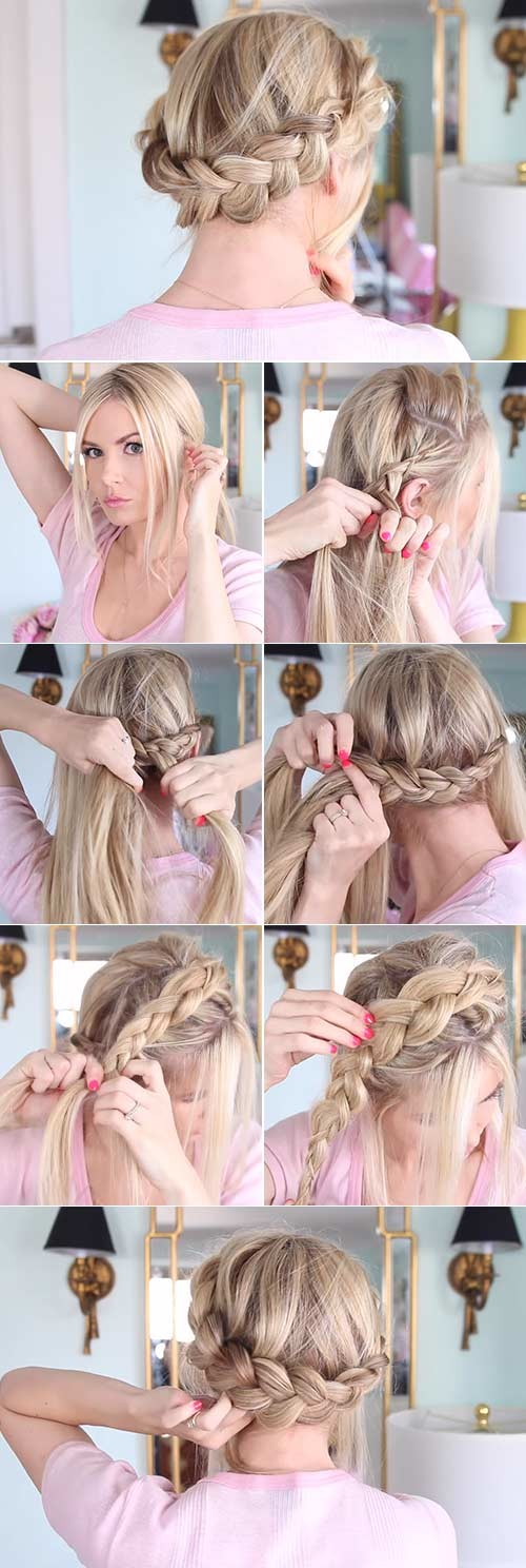 How-To-Do-A-Crown-Braid Beautiful Crown Braid Hairstyles