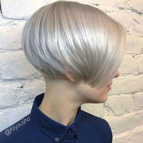 Ice-Blonde-Hair Haircut Styles for Short Hair
