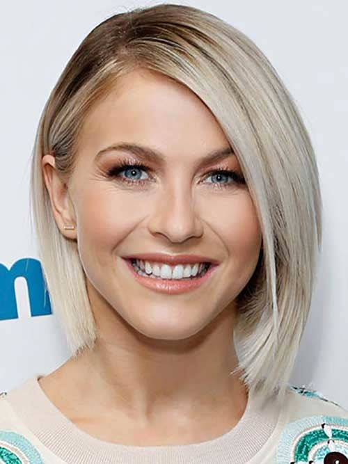 Julianne-Hough-Blondie-Bob-Hairstyle-for-Round-Face Bob Cuts for Round Faces