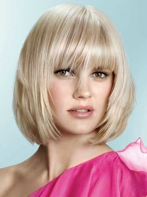 Layered-Blonde-Bob-Haircut-for-Round-Face Bob Cuts for Round Faces