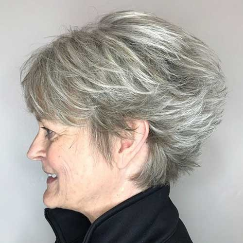 Layered-Short-Haircut Short Haircuts for Older Women 2019