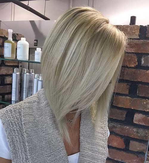 Long-Bob-Platinum-Blonde-Haircut Chic and Eye-Catching Bob Hairstyles