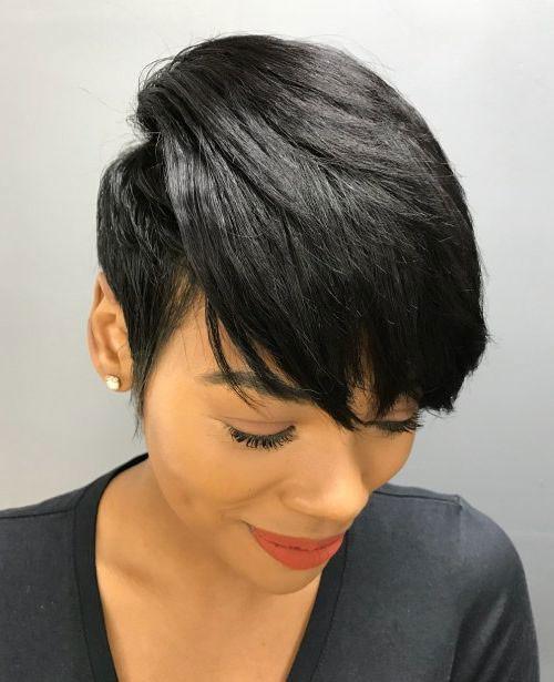 Long-Pixie-Style Best Short Hair Cuts on Black Women in 2019