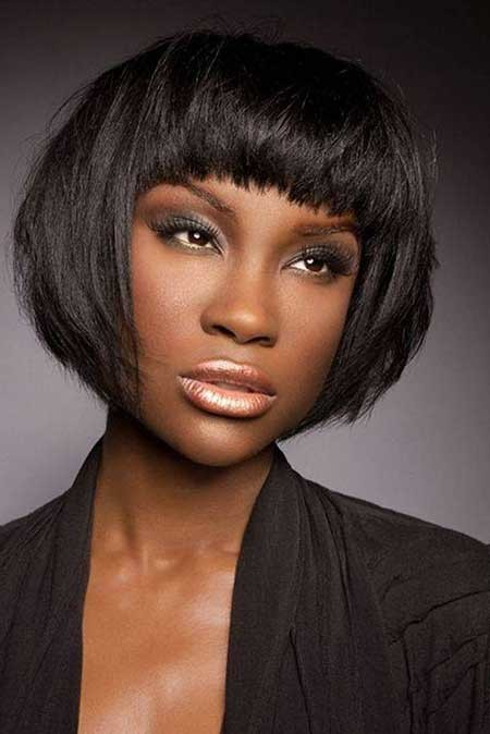 Messy-yet-Lovely-and-appealing-Bob-Hairstyle Nice Short Hairstyles for Black Women