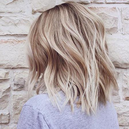 Nice-Wavy-Hair Popular Short Blonde Hair 2019