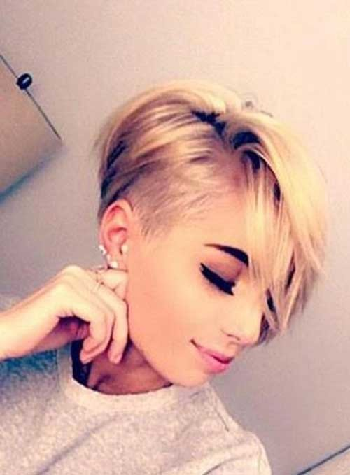 Pixie-Cut-with-Shaved-Side Must-See Straight Hairstyles for Short Hair