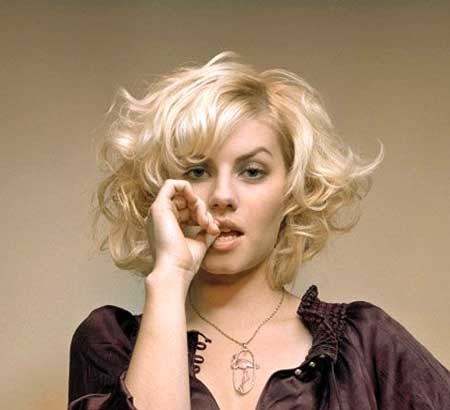 Short-Bob-Curly-Hairstyle-with-Averted-Ends Short Styles for Curly Hair