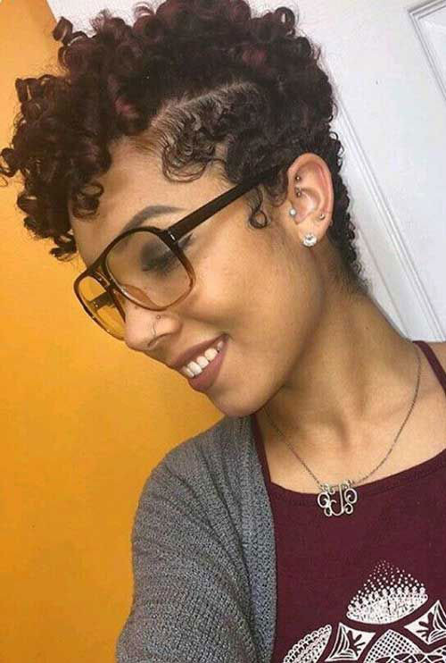 Short-Curly-Hairstyle-Black-Women Best Short Hair Cuts on Black Women in 2019