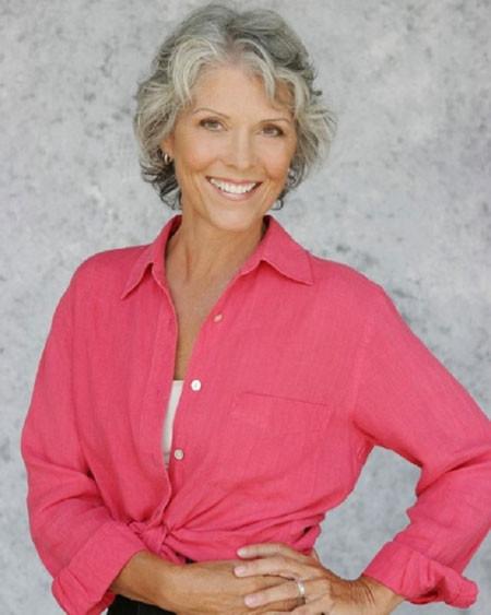 Short-Curly-Natural-Look Short Hair for Older Women