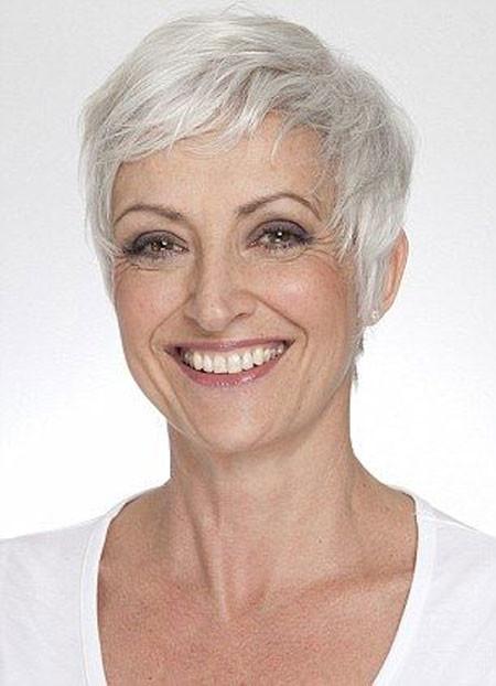 Short-Grey-Filled-Pixie Short Hair for Older Women