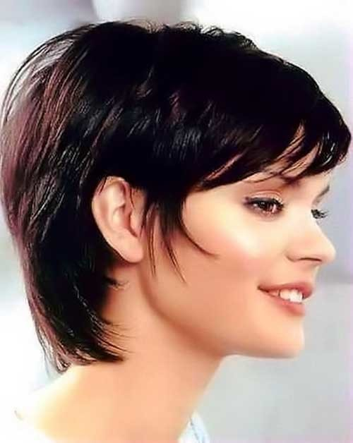 Short-Haircut-for-Dark-Long-Layered-Pixie Short Hairstyles for Dark Hair