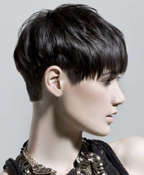 Short-Haircut-for-Dark-Short-Boyish-Pixie-Hair Short Hairstyles for Dark Hair