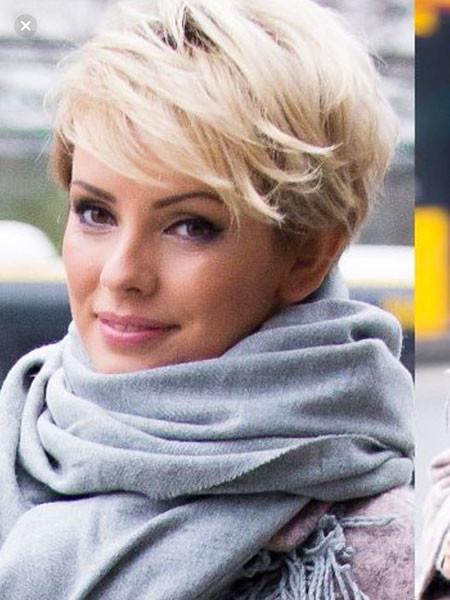 Short-Layered-Haircut Popular Short Blonde Hair 2019