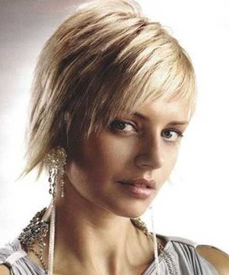 Short-Messy-Look Short Cuts for Straight Hair