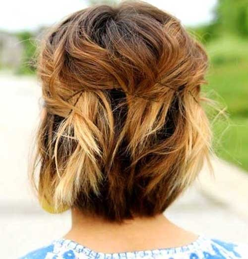 Short-Ombre-Bob-Hairstyle-with-Pinned-Back Beautiful Ombre Bob Hairstyles