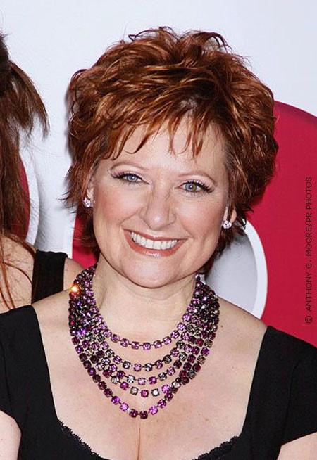 Short-Red-Voluminous-Haircut Short Hair for Older Women