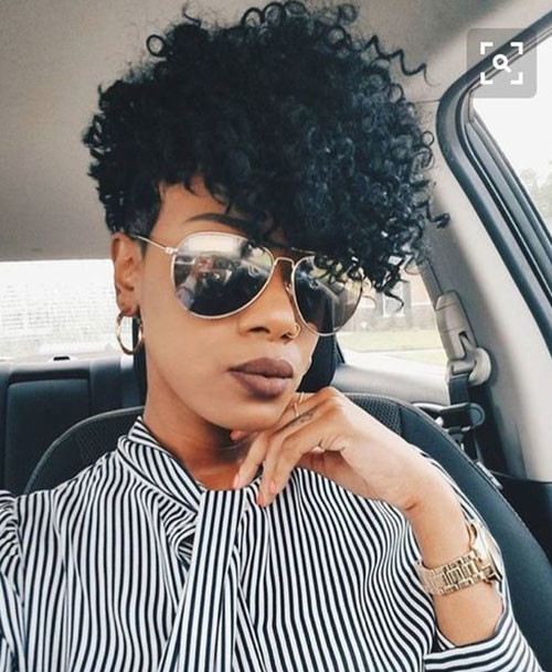 Short-Taper-Cut-Natural-Hair Best Short Hair Cuts on Black Women in 2019