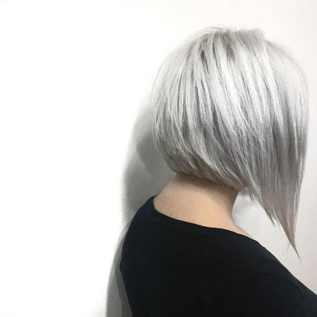 Silver New Bob Hairstyles 2019