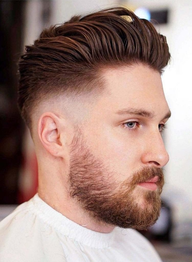 Slicked-back-Medium-Skin-Fade Stylish Undercut Hairstyle Variations in 2019: A Complete Guide