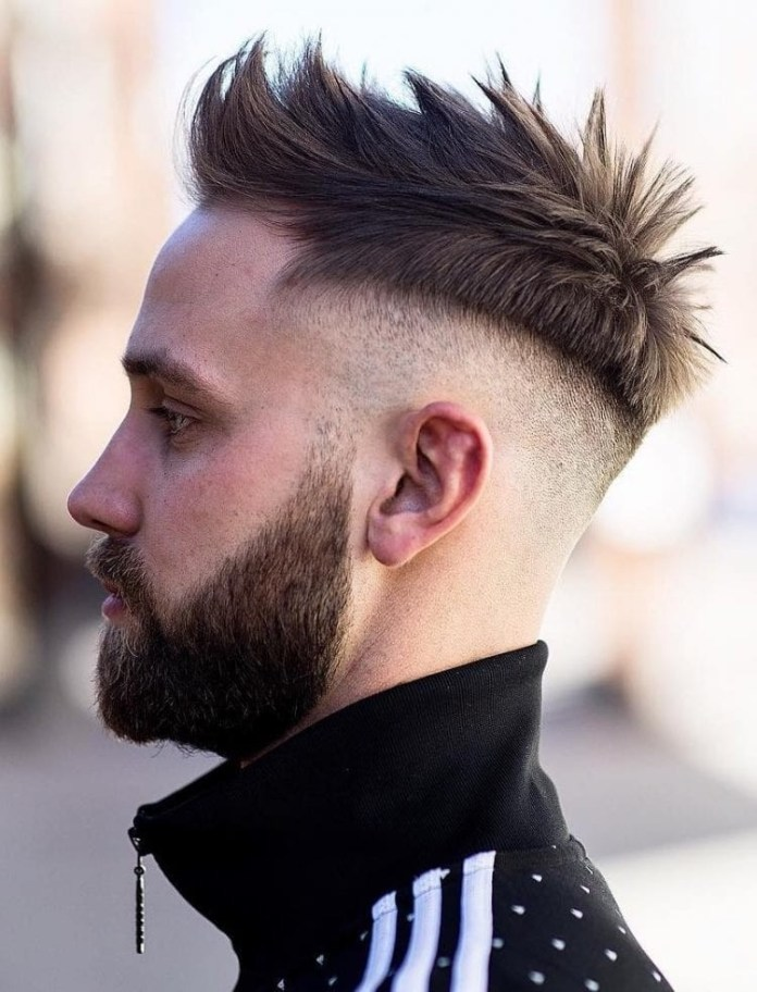 Spiky-Texture-with-Skin-Fade Stylish Undercut Hairstyle Variations in 2019: A Complete Guide