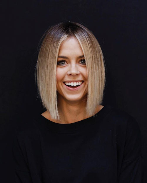 Straight-Bob-1 Beautiful Brown to Blonde Ombre Short Hair