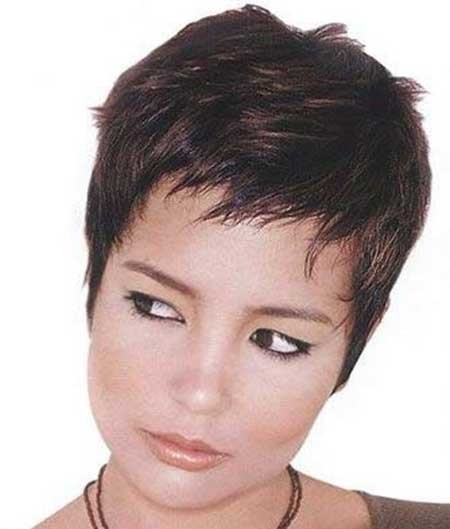 Super-Short-Layered-Haircut-with-Messy-Top Short Pixie Cuts for Women