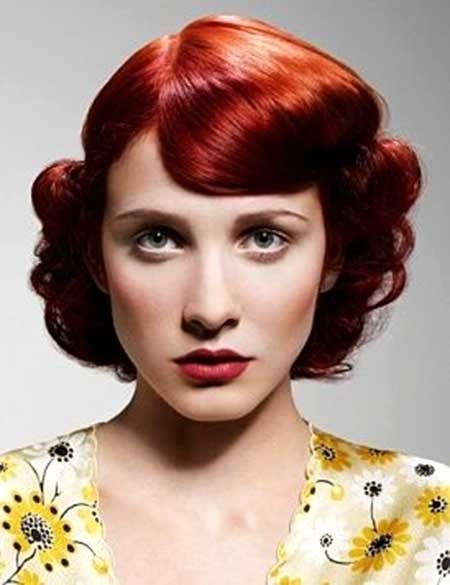The-1950's-Hairdo-for-Curly-Hair Short Styles for Curly Hair