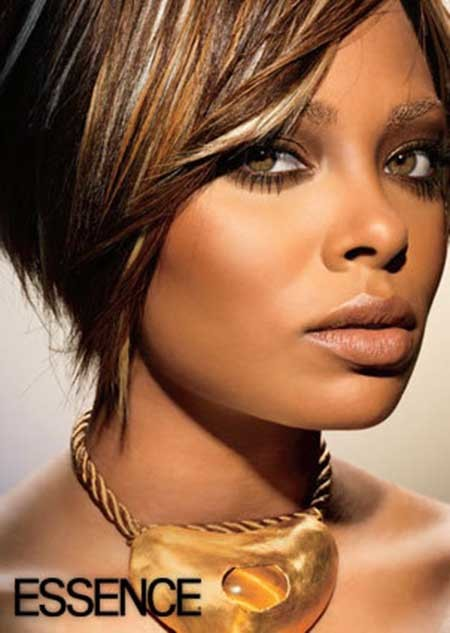 The-Charming-Graduated-Bob-Cut-with-Hues-of-different-Colors Nice Short Hairstyles for Black Women