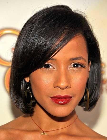 The-Fabulous-and-Sassy-Chin-Length-Bob-Hairstyle Nice Short Hairstyles for Black Women