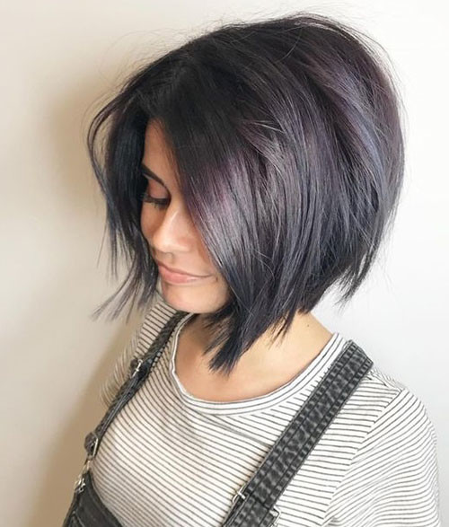 Thick-Bob-with-Layers Latest Short Haircuts for Women 2019
