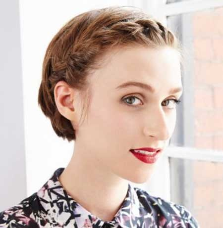 Twisted-Braid-Hairdo-for-Girls-with-Short-Hair Short Braided Hairstyle