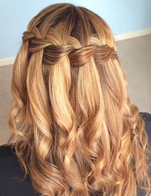Waterfall-Crown-Braid Beautiful Crown Braid Hairstyles