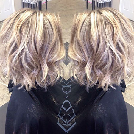 Wavy-Hairtyle Popular Short Blonde Hair 2019