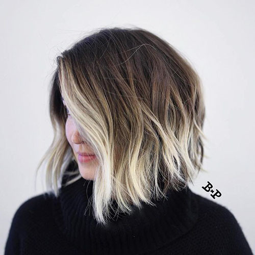 19-brown-to-blonde-ombre-short-hair Beautiful Brown to Blonde Ombre Short Hair