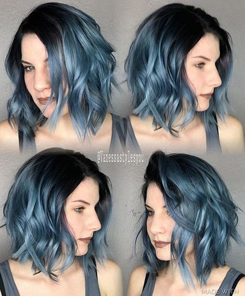 22-short-blue-hairstyles Popular Short Blue Hair Ideas in 2019