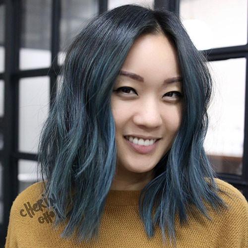 28-blue-ombre-short-hair Popular Short Blue Hair Ideas in 2019