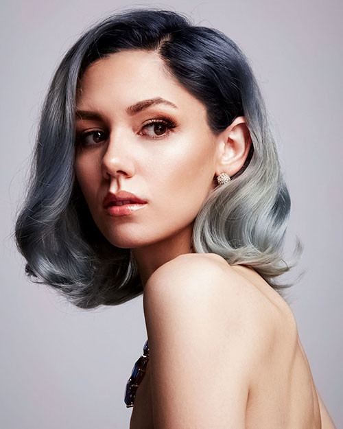 29-blue-ombre-short-hair Popular Short Blue Hair Ideas in 2019