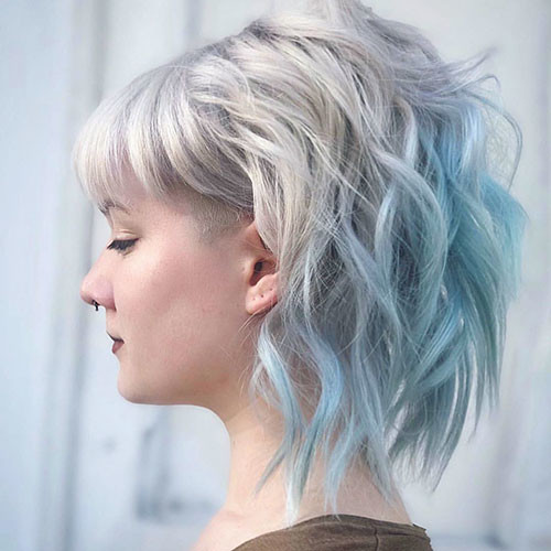 39-short-light-blue-hair Popular Short Blue Hair Ideas in 2019