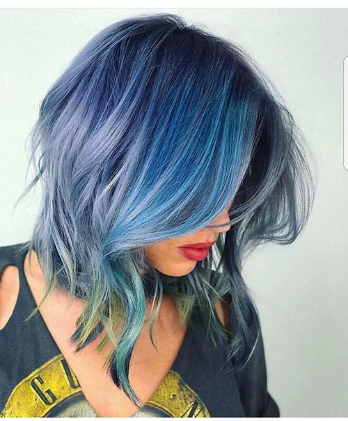 40-short-hair-with-blue-highlights Popular Short Blue Hair Ideas in 2019