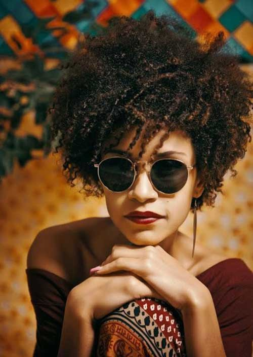 Afro-Curly-Short-Hairstyle-2016 Latest Curly Short Hairstyles 2019