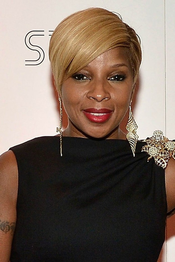 Angular-and-Blonde Best Short Hairstyles for Black Women
