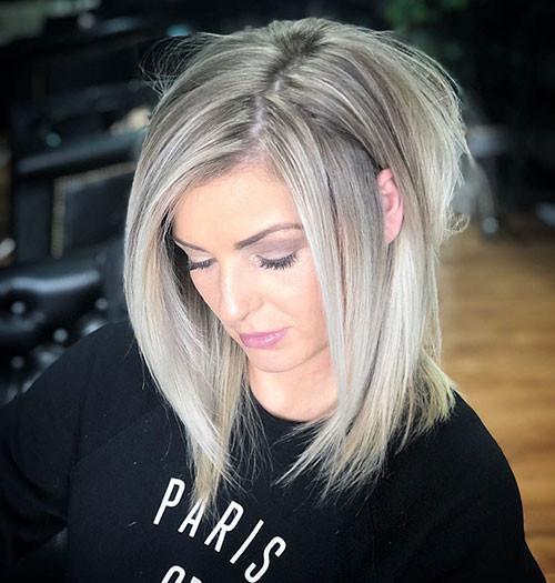 Ash-Blonde-Balayage New Ash Blonde Short Hair Ideas