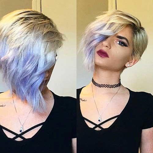 Asymmetric-Cut Chic Short Hair Ideas with Bangs